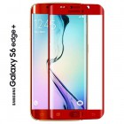Folie protectie sticla securizata Samsung Galaxy S6 Edge Plus - Red