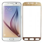 Folie protectie sticla securizata Samsung Galaxy S6 - Gold aluminium