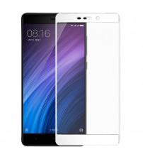 Folie protectie sticla securizata Xiaomi Redmi 4 Prime, White