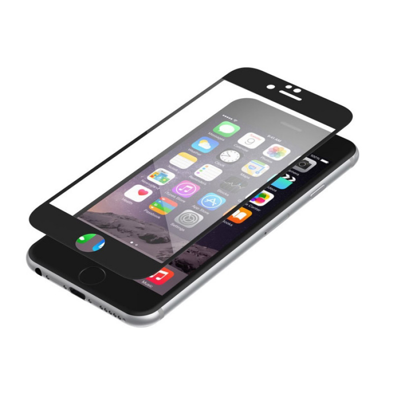 Folie sticla iPhone 6 antireflex Black - TemperedGlass.ro