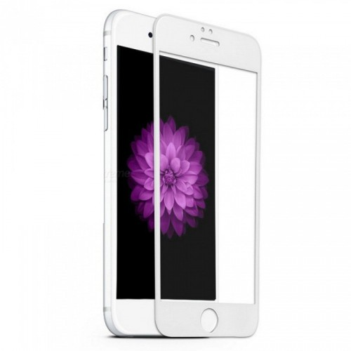 Folie sticla iPhone 6 antireflex 3D White - TemperedGlass.ro