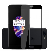 Folie sticla securizata OnePlus 5, FULL GLUE, Black
