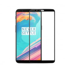 Folie sticla securizata OnePlus 5T, FULL GLUE, 3D Black