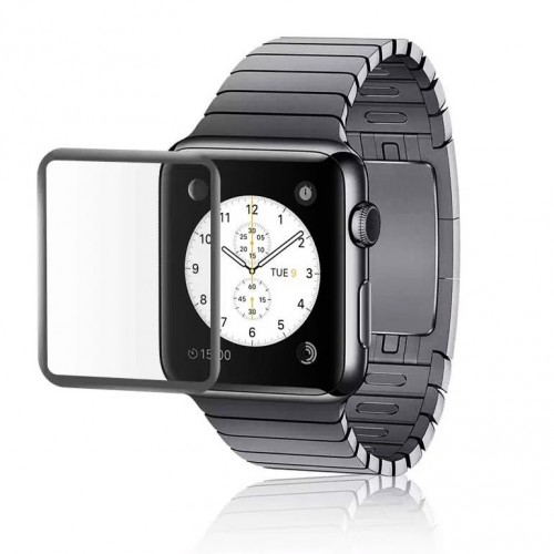 Folie sticla Apple Watch 42mm Black, Folii Apple - TemperedGlass.ro