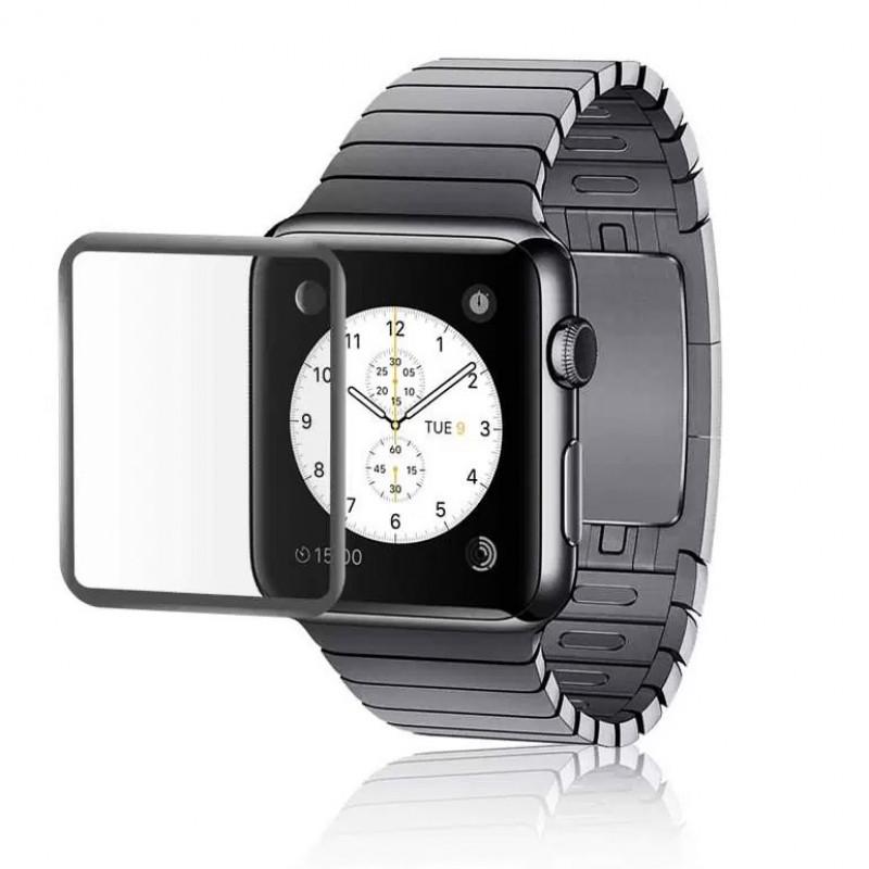 Folie sticla Apple Watch 42mm Black, Folii Apple - TemperedGlass.ro