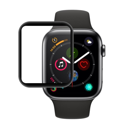 Folie sticla Apple Watch 4 44mm Black, Folii Apple - TemperedGlass.ro