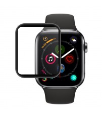 Folie sticla securizata tempered glass Apple Watch 4 44mm - Black