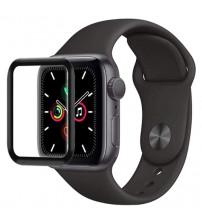 Folie sticla securizata tempered glass Apple Watch SE 44mm - Black