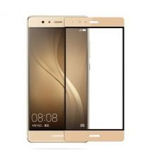 Folie sticla securizata tempered glass Huawei P9 Plus Full 3D Gold