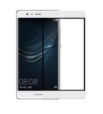 Folie sticla securizata tempered glass Huawei P9 Plus Full 3D White