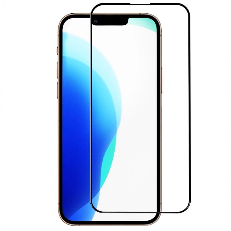 Folie sticla iPhone 13 / 13 Pro 3D Black, Folii iPhone