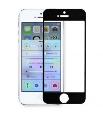 Folie sticla securizata tempered glass iPhone 5 / 5S / 5C - Black aluminium