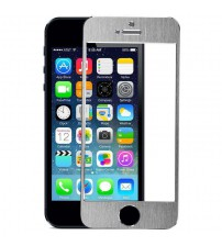 Folie sticla securizata tempered glass iPhone 5 / 5S / 5C - Silver aluminium