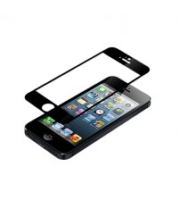 Folie sticla securizata tempered glass iPhone 5 / 5S, Black