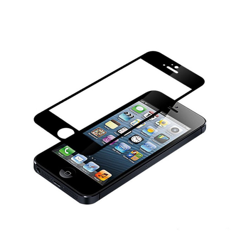 Folie sticla iPhone 5 Black, Folii iPhone - TemperedGlass.ro