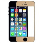 Folie sticla securizata tempered glass iPhone 5, Gold aluminium