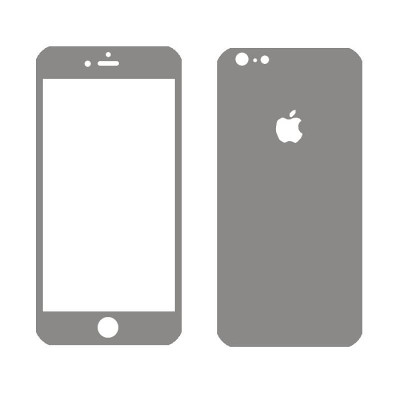 Folie sticla iPhone 5 Silver, Folii iPhone - TemperedGlass.ro