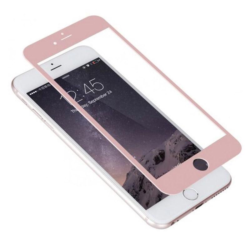 Folie sticla iPhone 6 Plus 3D Rose Gold, Folii iPhone - TemperedGlass.ro