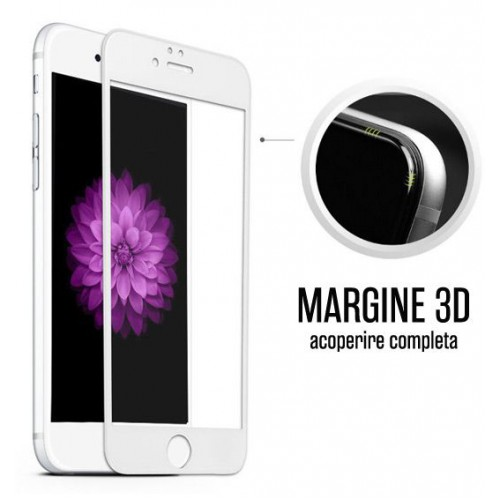 Folie sticla iPhone 6 3D White, Folii iPhone - TemperedGlass.ro