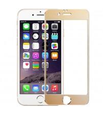 Folie sticla securizata tempered glass iPhone 6 - Gold aluminium