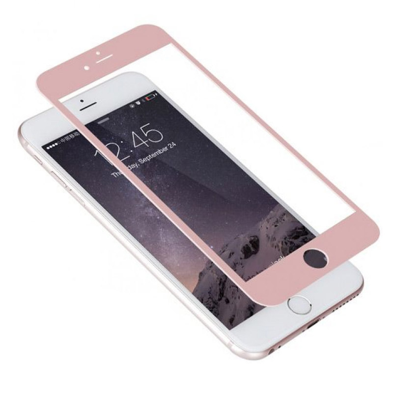 Folie sticla iPhone 6 3D Rose Gold, Folii iPhone - TemperedGlass.ro