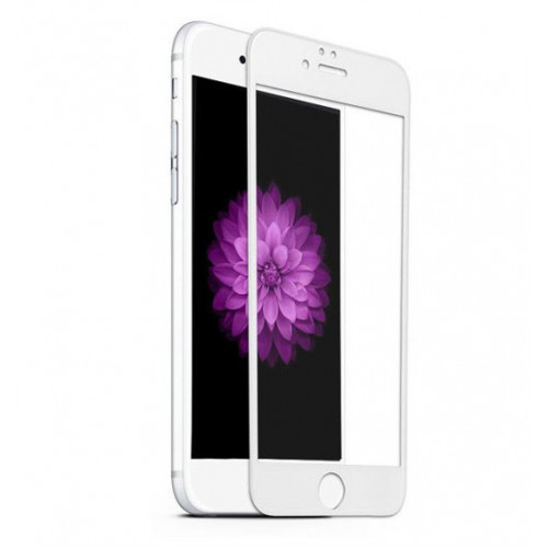 Folie sticla iPhone 7 3D White, Folii iPhone - TemperedGlass.ro