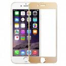 Folie sticla securizata tempered glass iPhone 6 Plus - Gold aluminium