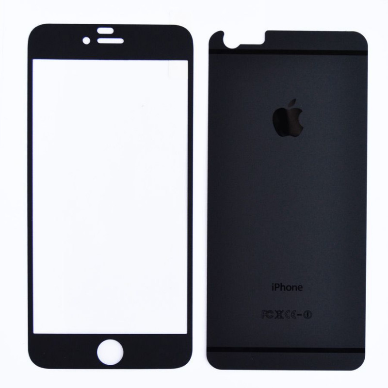 Folie sticla iPhone 6 Plus Negru mat, Folii iPhone - TemperedGlass.ro