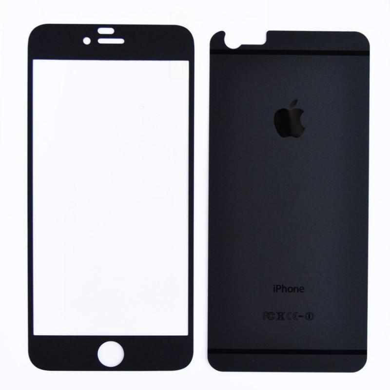 Folie sticla iPhone 6 Plus Negru mat, Folii iPhone - TemperedGlass.ro