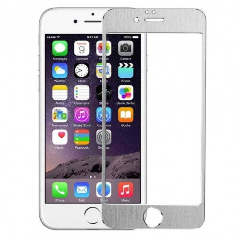 Folie sticla iPhone 6 Plus Silver alum, Folii iPhone - TemperedGlass.ro