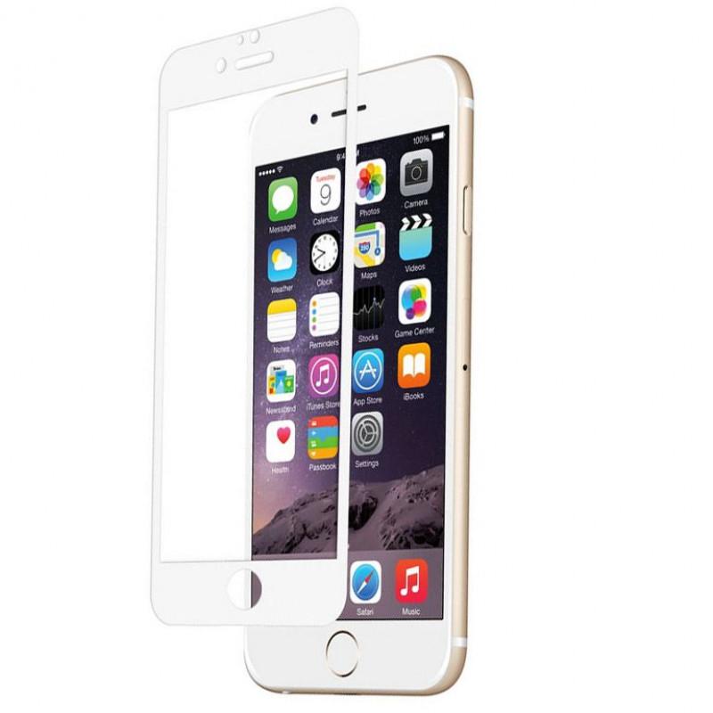 Folie sticla iPhone 6 White, Folii iPhone - TemperedGlass.ro