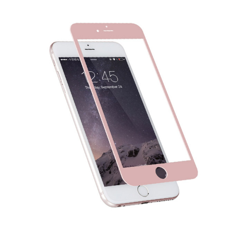 Folie sticla iPhone 6 Rose Gold, Folii iPhone - TemperedGlass.ro
