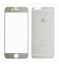 Folie sticla securizata tempered glass iPhone 6 Silver - set complet