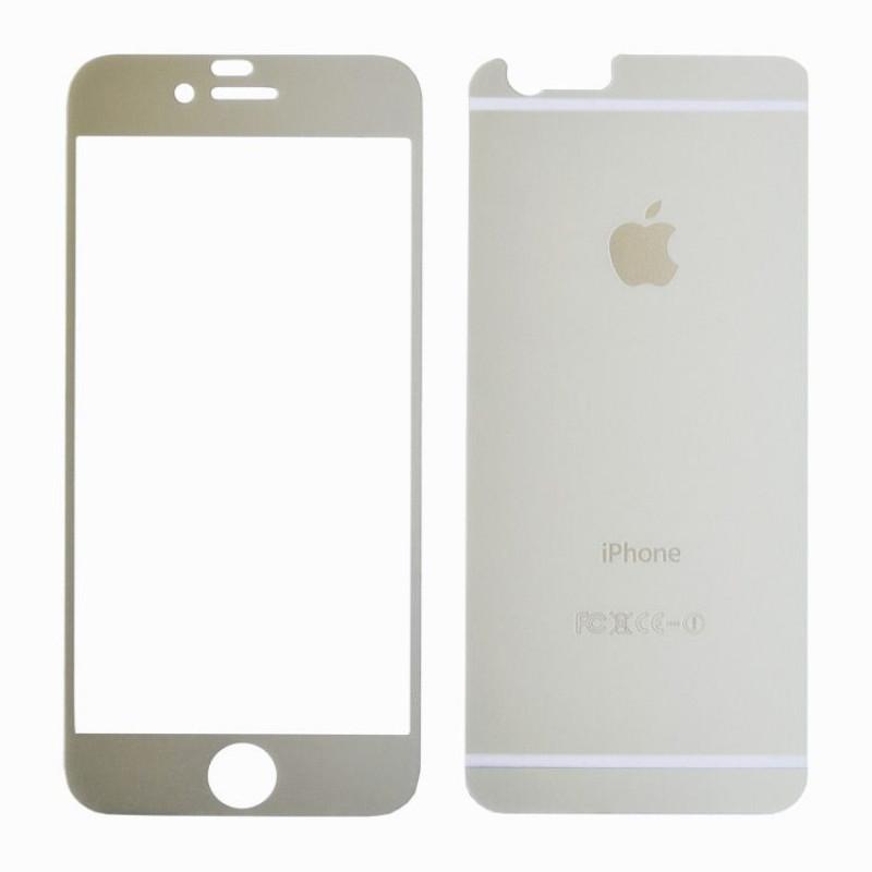 Folie sticla iPhone 6 silver, Folii iPhone - TemperedGlass.ro