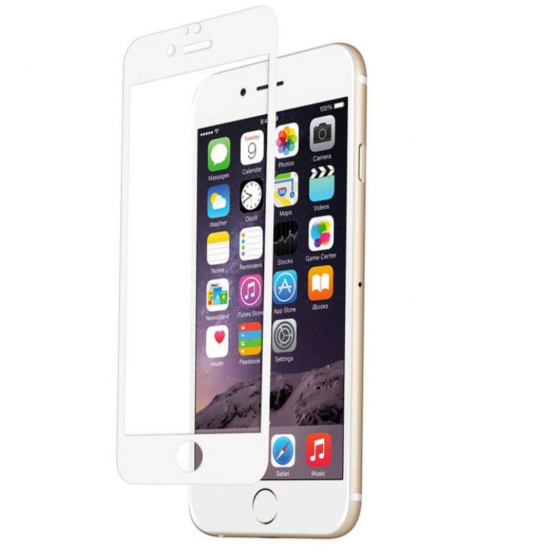 Folie sticla iPhone 6 Plus White, Folii iPhone - TemperedGlass.ro