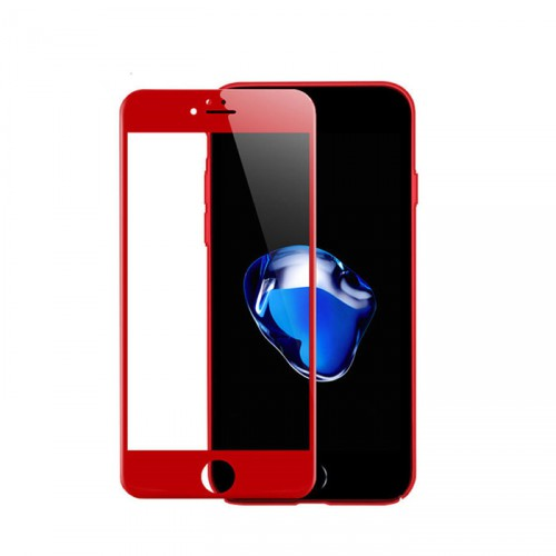 Folie sticla iPhone 7 Plus 3D Red, Folii iPhone - TemperedGlass.ro
