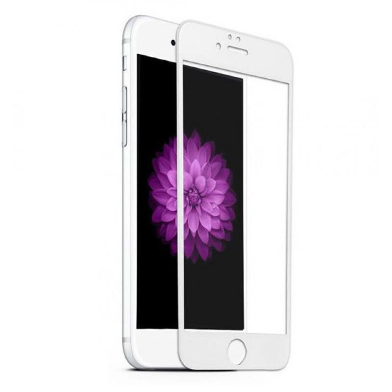 Folie sticla iPhone 7 3D White, Folii iPhone - TemperedGlass.ro