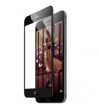 Folie sticla securizata tempered glass iPhone 8 Plus Full 3D - Black