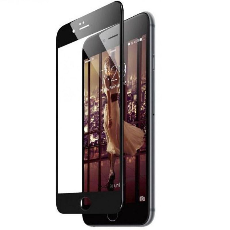 Folie sticla iPhone 8 Plus 3D Black, Folii iPhone - TemperedGlass.ro