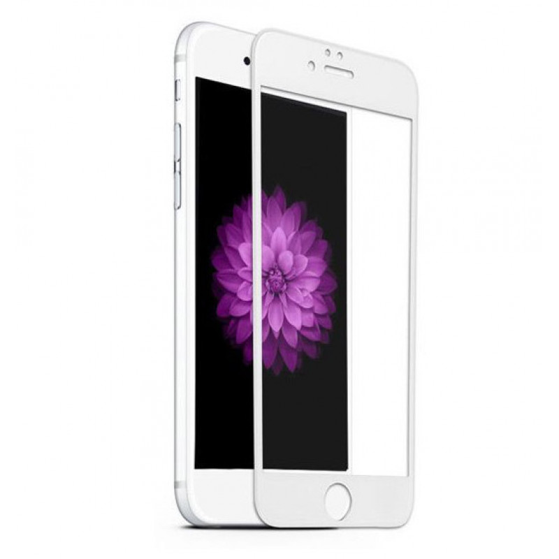 Folie sticla iPhone 8 Plus 3D White, Folii iPhone - TemperedGlass.ro