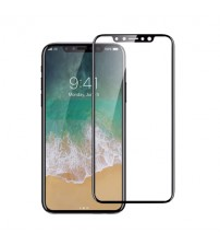 Folie sticla securizata tempered glass iPhone X 3D Black
