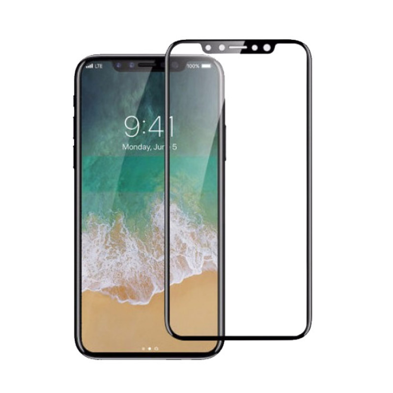 Folie sticla iPhone X 3D Black, Folii iPhone - TemperedGlass.ro