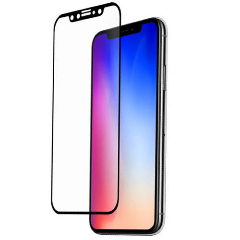 Folie sticla iPhone XR 3D Black, Folii iPhone - TemperedGlass.ro