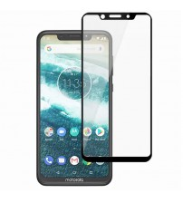 Folie sticla securizata tempered glass Motorola One, Black