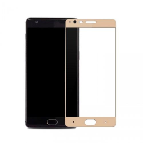 Folie sticla OnePlus 3 Gold, Folii OnePlus - TemperedGlass.ro
