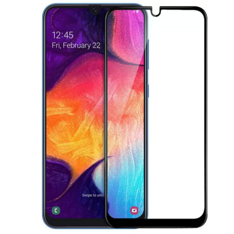 Folie sticla Samsung Galaxy A20e Black - TemperedGlass.ro