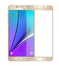 Folie sticla securizata tempered glass Samsung Galaxy A5 2016, Gold