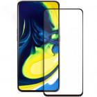 Folie sticla securizata tempered glass Samsung Galaxy A80, Black