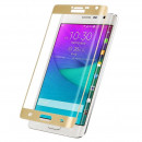 Folie sticla securizata tempered glass Samsung Galaxy Note Edge Full 3D - Gold