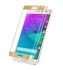 Folie sticla securizata tempered glass Samsung Galaxy Note Edge Full 3D - Gold